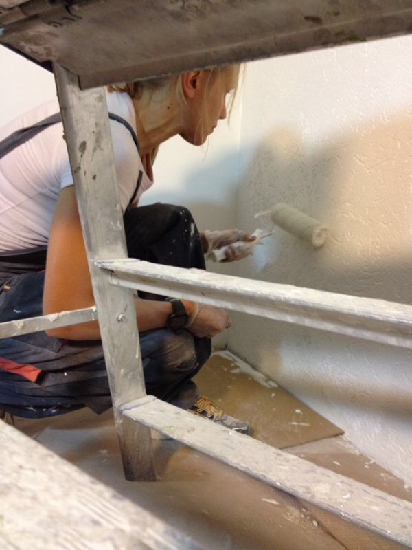 Maalari maalasi taloa/ Painting it white